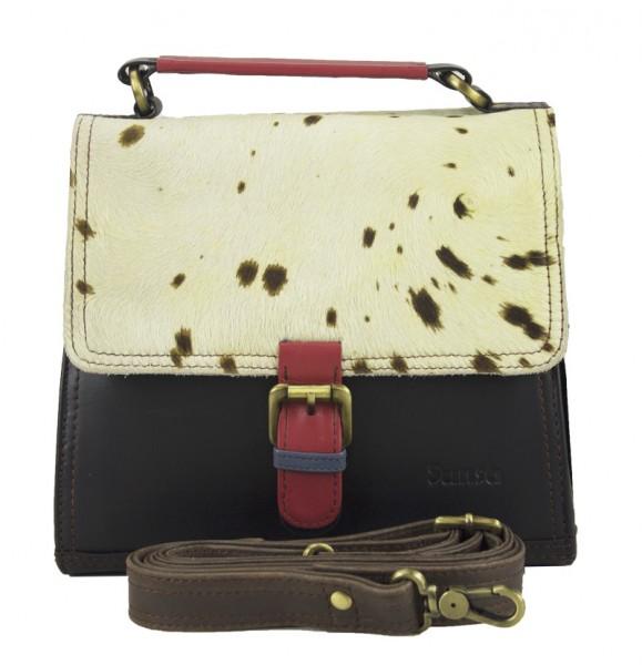 Handtasche Ledertasche Damentasche Umhängetasche Leder Bunt Sunsa 22x20x10 cm